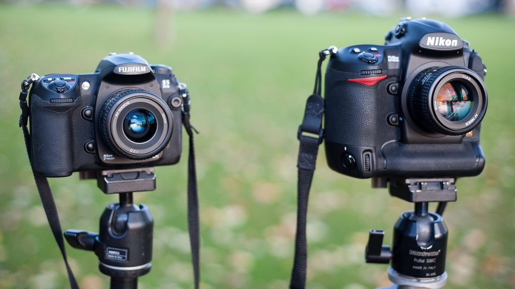Nikon D3X vs Fujifilm S5 Pro Dynamic Range (well, highlight recovery test)